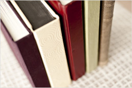 wedding albums with leather and silk covers