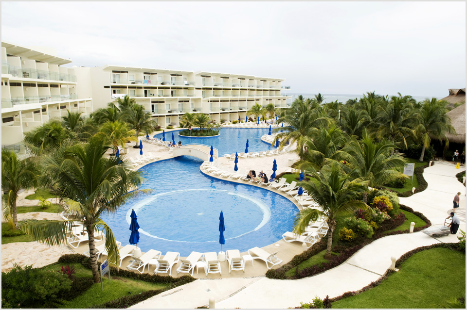 view from the balcony at Azul Sensatori Mexico