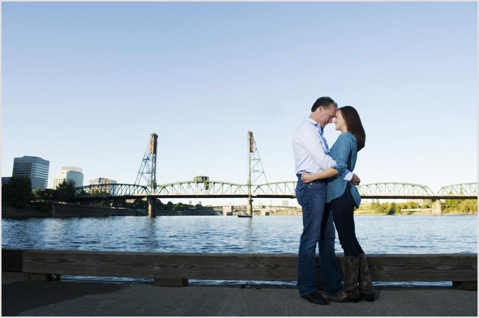 couple in downtown Portland