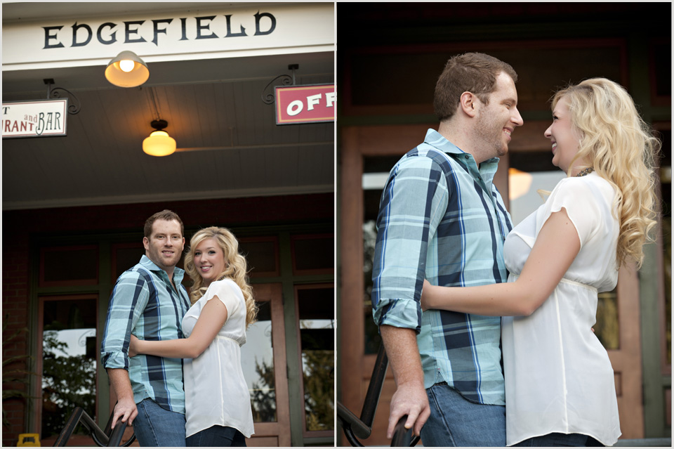 an engagement portrait session at Edgefield